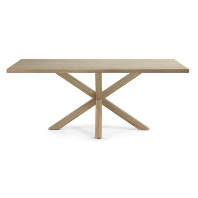 Bromley Engineered Wood & Steel Dining Table, 180cm, Natural by El Diseno, a Dining Tables for sale on Style Sourcebook