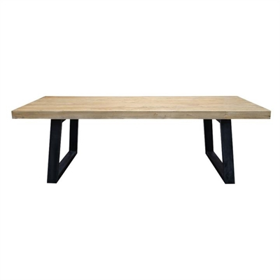 Edric Reclaimed Elm Timber & Steel Dining Table, 240cm by Conception Living, a Dining Tables for sale on Style Sourcebook