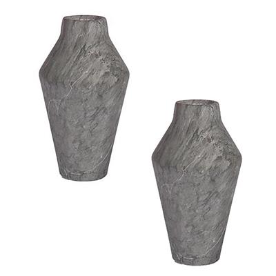 Maysa Marble Jar Vase, Green/Grey (Set of 2) by SLH, a Vases & Jars for sale on Style Sourcebook