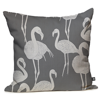 Deco Flamingos by Grace Garrett, a Cushions, Decorative Pillows for sale on Style Sourcebook