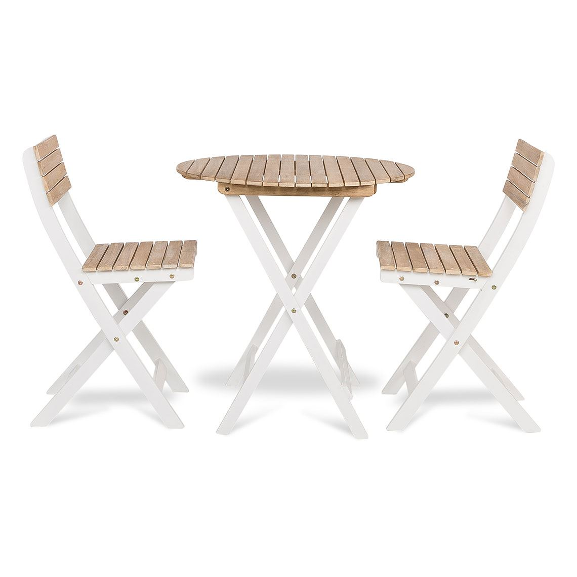 Atlantic 3 Piece Outdoor Dining Set, Acacia Wood Size W 146cm x D 156cm x H 79cm in Nat/Wht Solid Acacia/Metal Freedom by Freedom, a Outdoor Dining Sets for sale on Style Sourcebook