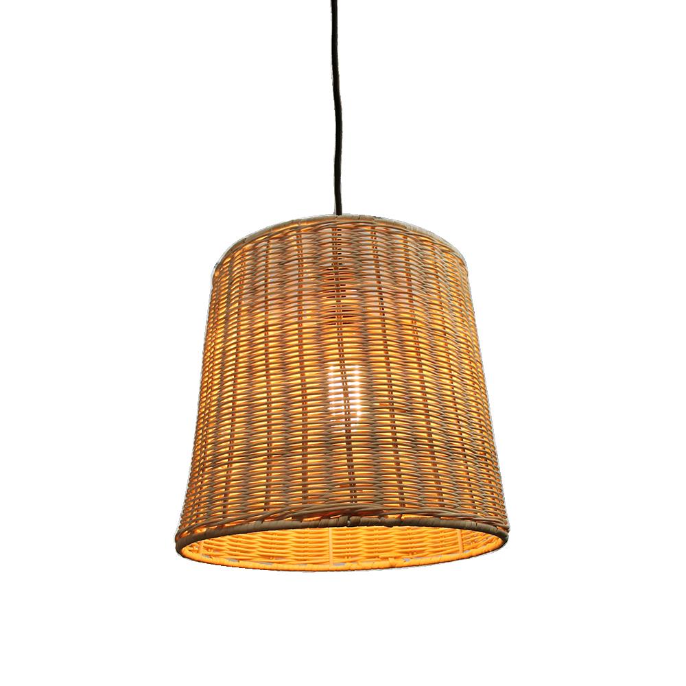 Wicker Basket Hanging Light by Fat Shack Vintage, a Pendant Lighting for sale on Style Sourcebook