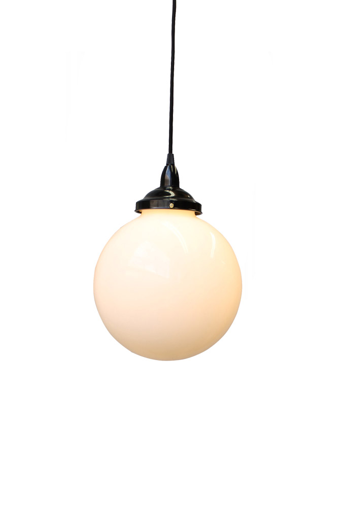 Opal Glass Ball Light by Fat Shack Vintage, a Pendant Lighting for sale on Style Sourcebook