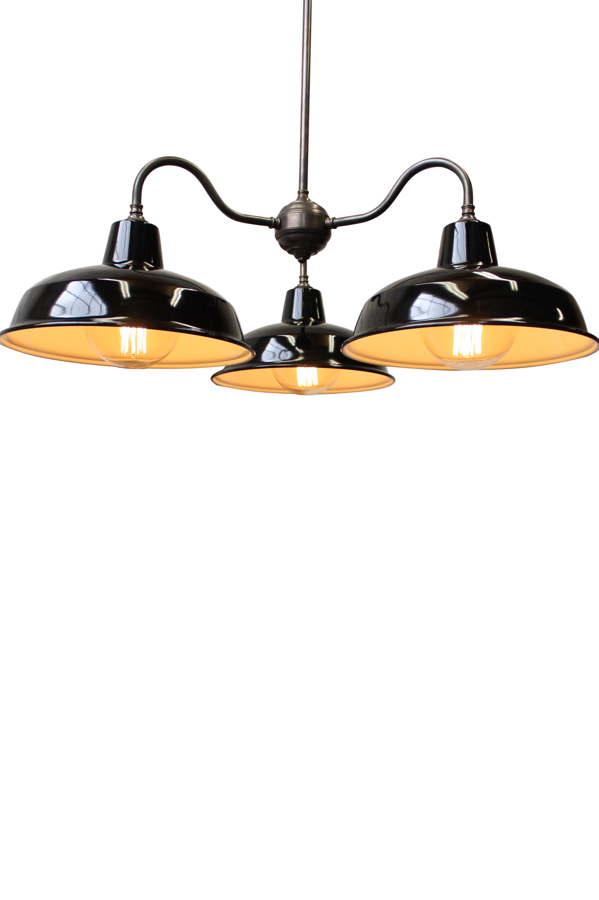 Industrial Gooseneck Warehouse Chandelier by Fat Shack Vintage, a Chandeliers for sale on Style Sourcebook