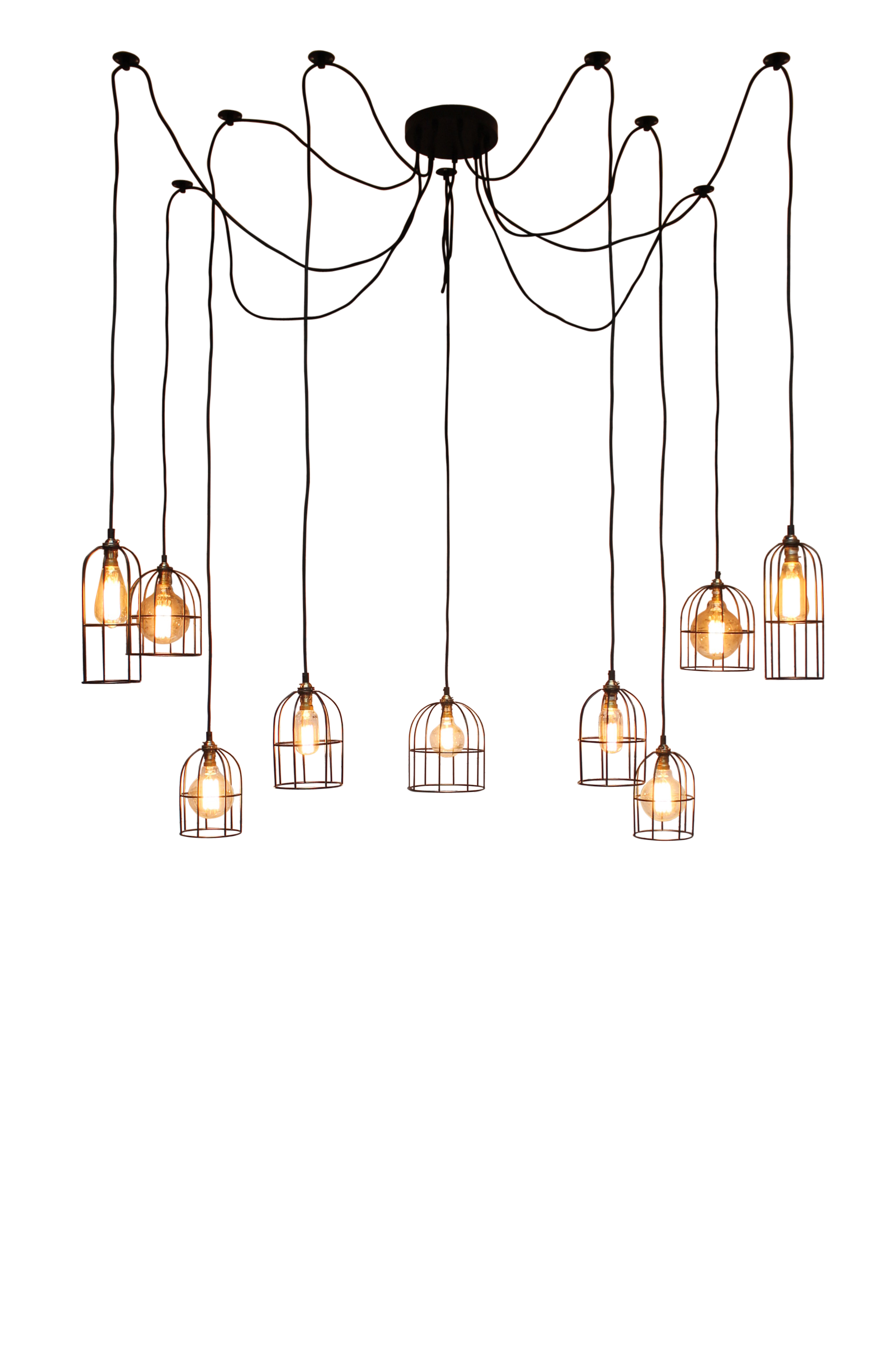 Cage Industrial Pendant light by Fat Shack Vintage, a Pendant Lighting for sale on Style Sourcebook