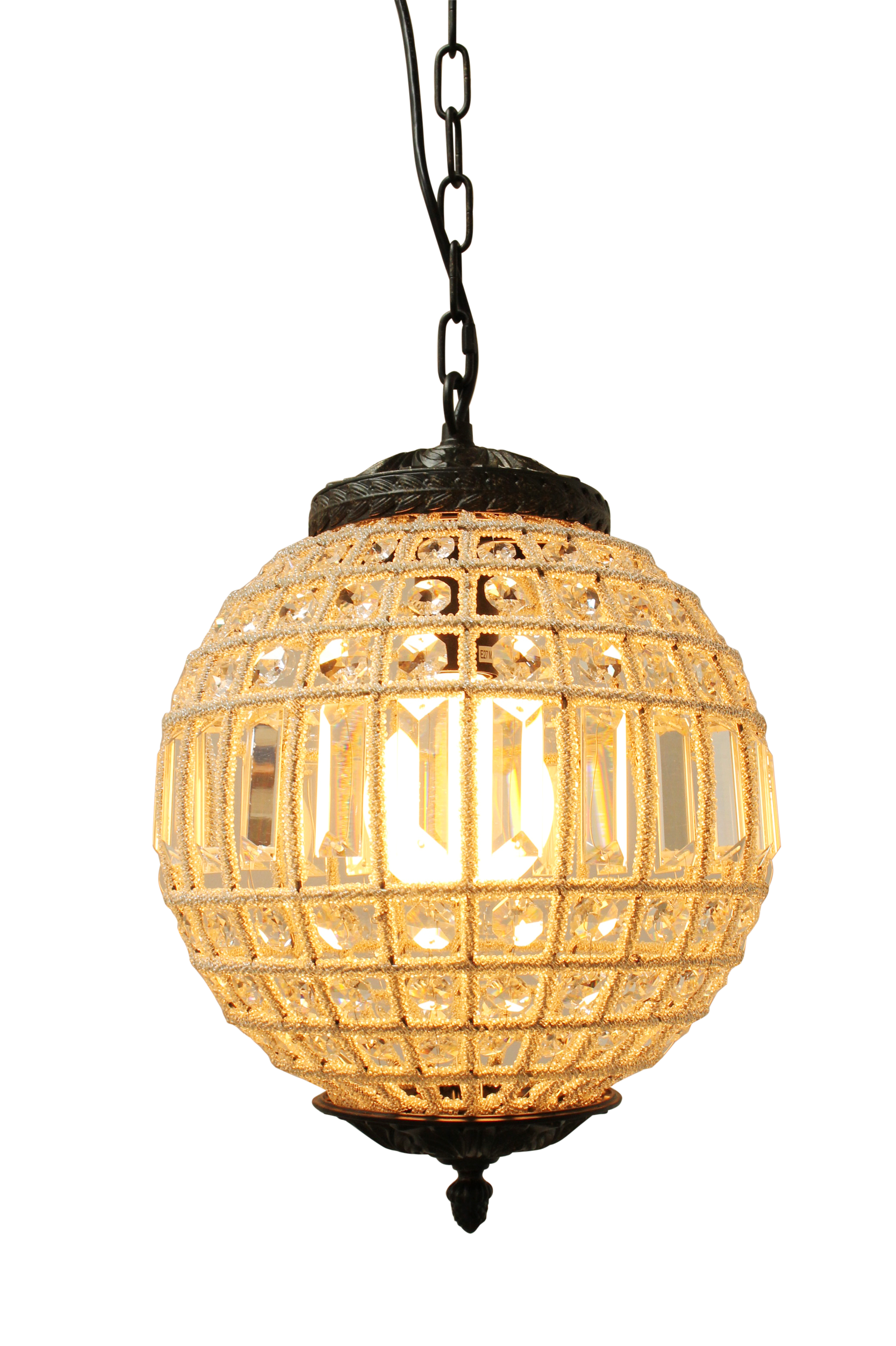 Waldorf Crystal Ball Pendant by Fat Shack Vintage, a Chandeliers for sale on Style Sourcebook