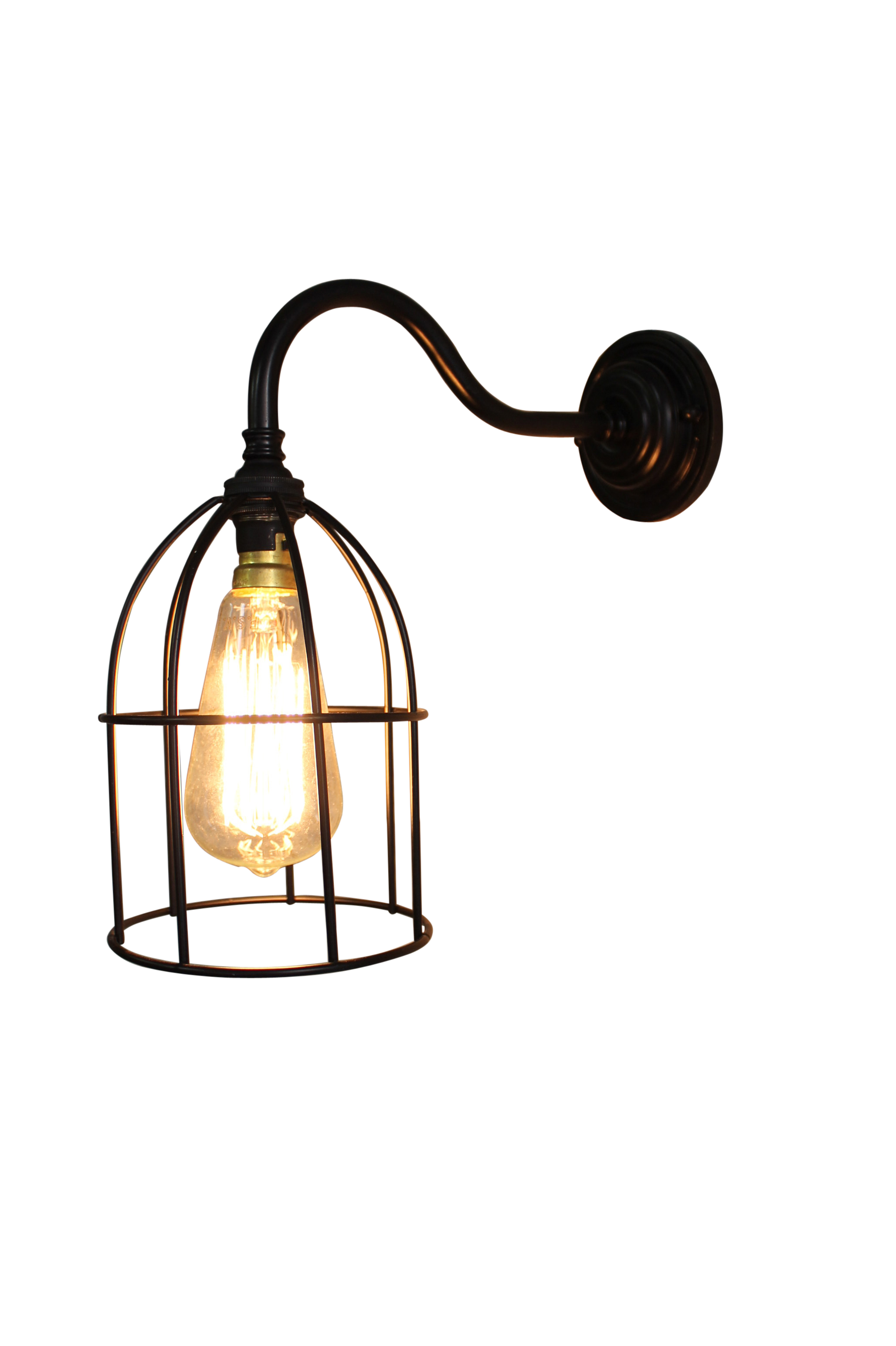 Cage Gooseneck Wall Light by Fat Shack Vintage, a Wall Lighting for sale on Style Sourcebook
