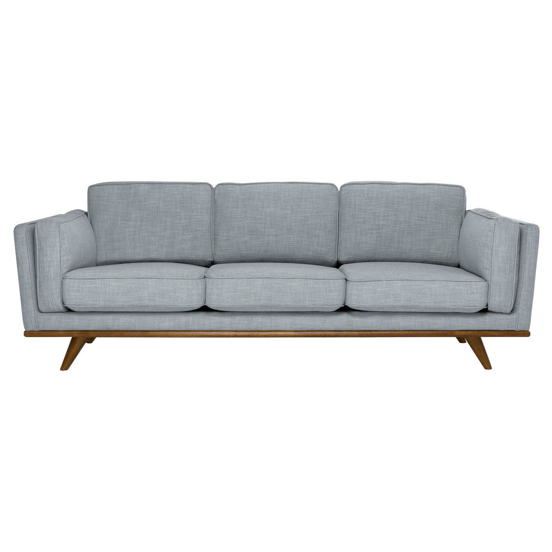 Dahlia 3 Seat Fabric Sofa Size W 229cm x D 93cm x H 82cm in Light Grey 90% Polyester/10% Linen/Woven Freedom by Freedom, a Sofas for sale on Style Sourcebook