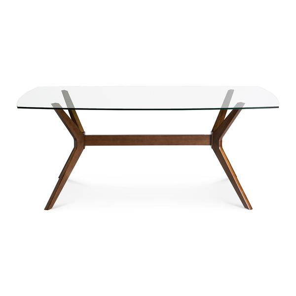 STEFAN GLASS TOP DINING TABLE by The Design Edit, a Dining Tables for sale on Style Sourcebook