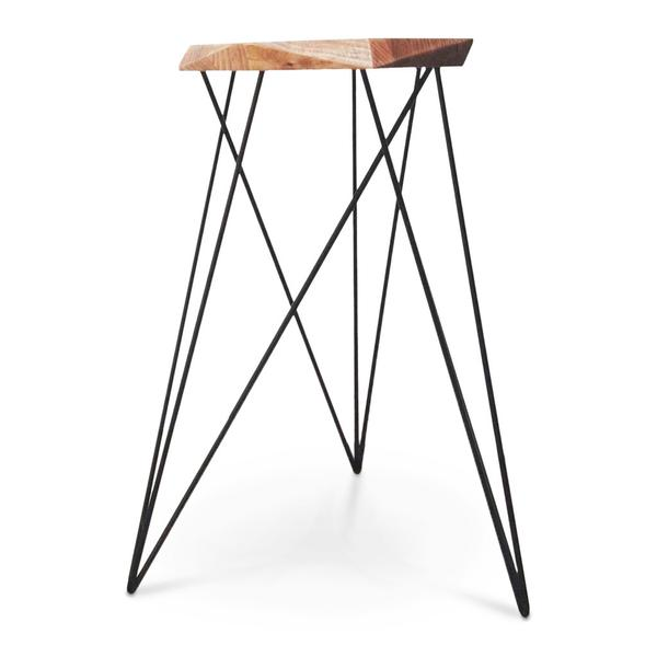 GEOMETRIC BAR STOOL - WARM OILED by Nebulab Design, a Bar Stools for sale on Style Sourcebook