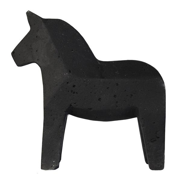 CONCRETE DALA HORSE - BLACK by Zakkia, a Statues & Ornaments for sale on Style Sourcebook