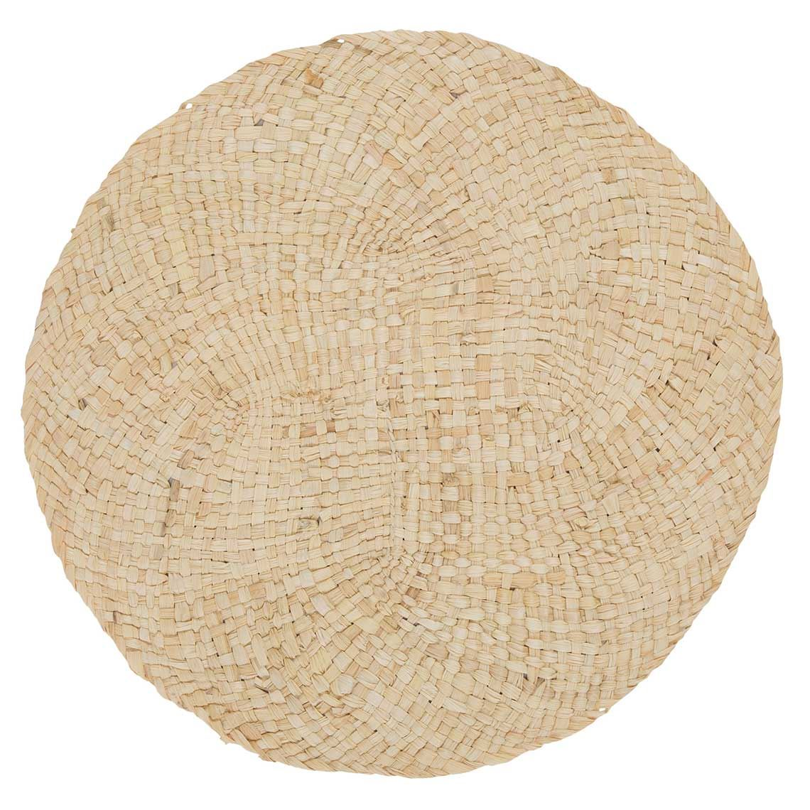 Iwu Round Placemat Size W 38cm x D 0cm x H 38cm in Natural 100% Maize Peel Freedom by Freedom, a Placemats for sale on Style Sourcebook