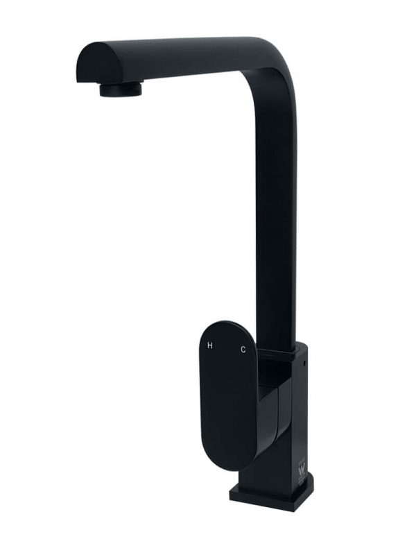 Zitto Matte Black Kitchen Mixer Tap by Meir, a Kitchen Taps & Mixers for sale on Style Sourcebook