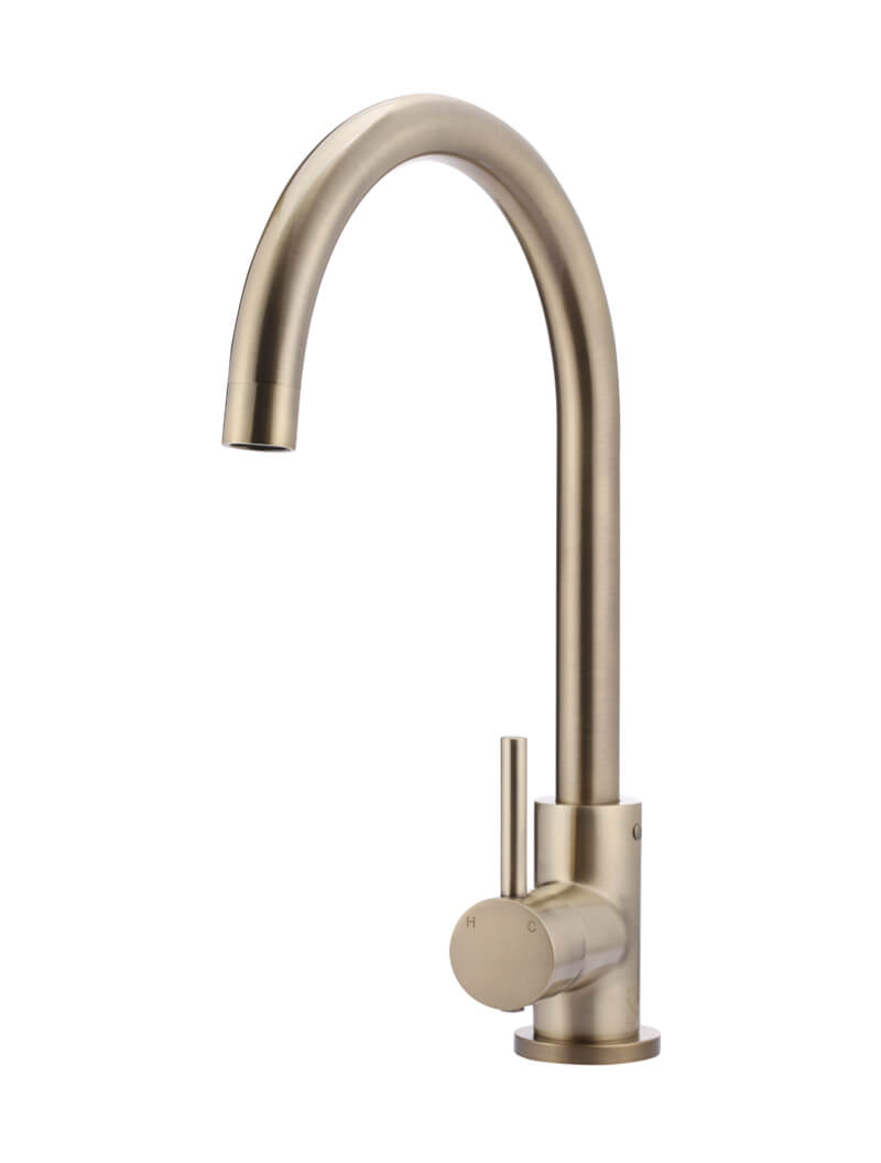 Round Champagne Kitchen Mixer by Meir, a Kitchen Taps & Mixers for sale on Style Sourcebook