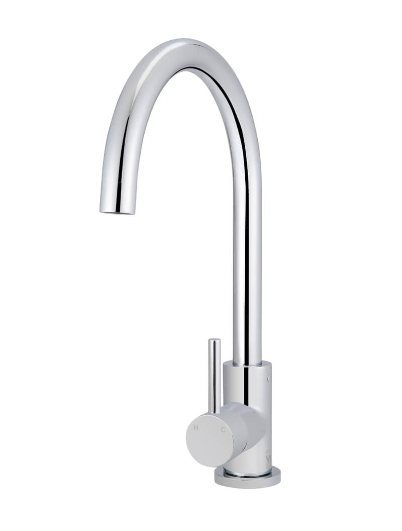 Round Chrome Kitchen Mixer by Meir, a Kitchen Taps & Mixers for sale on Style Sourcebook