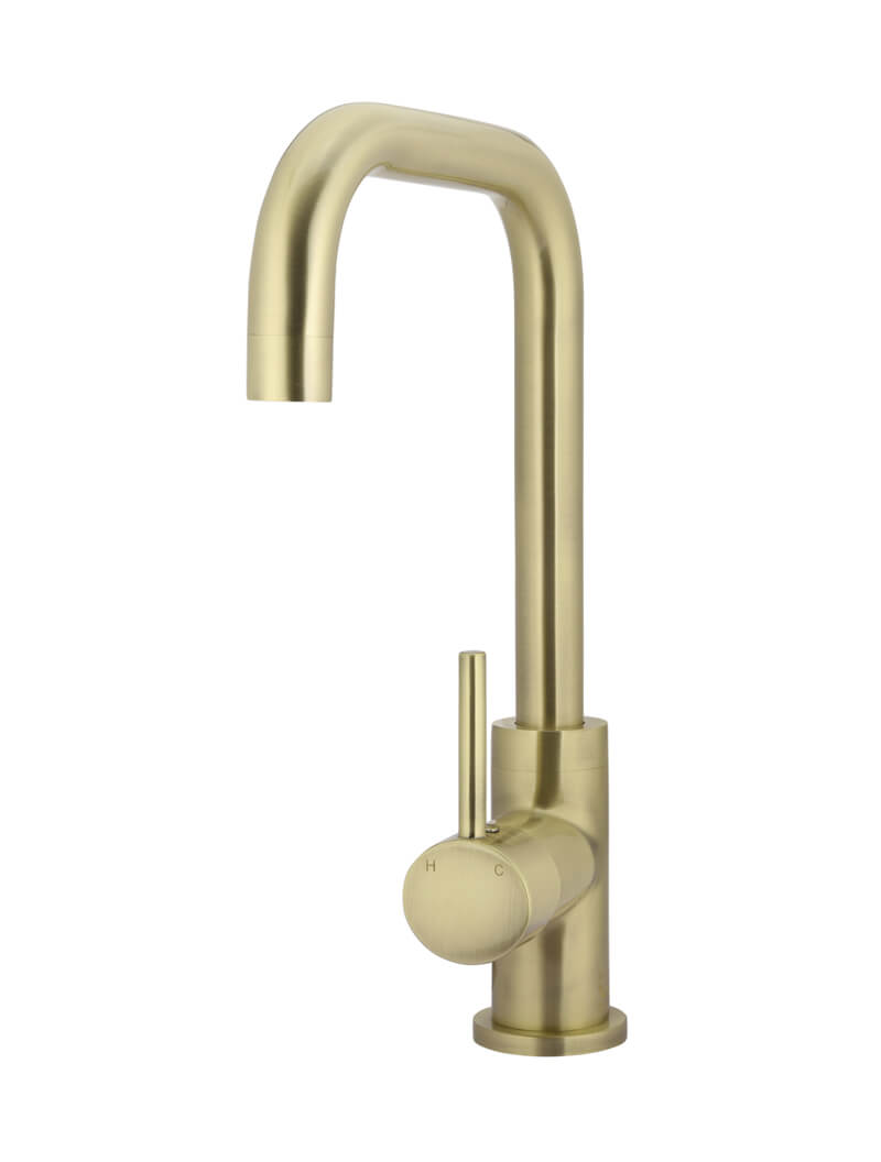 TIGER BRONZE ROUND KITCHEN MIXER TAP by Meir, a Kitchen Taps & Mixers for sale on Style Sourcebook