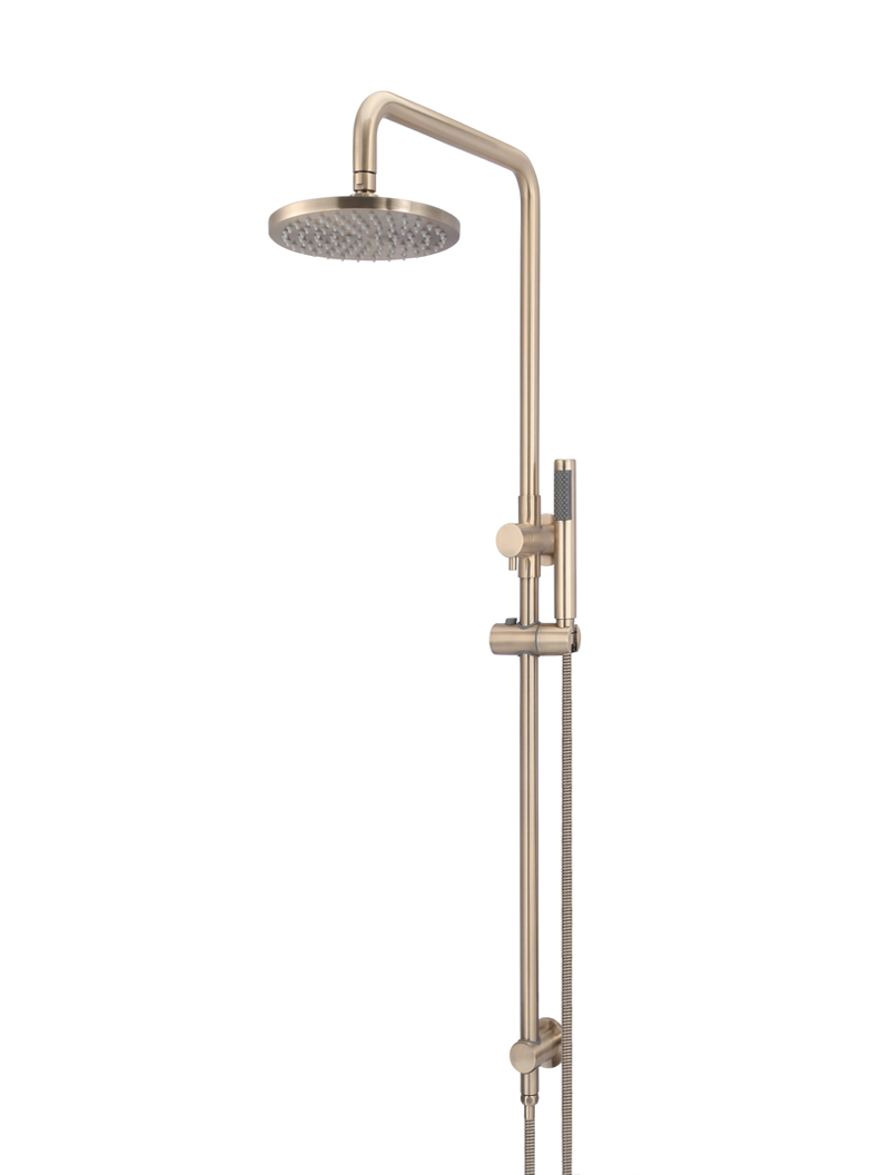 ROUND COMBINATION SHOWER RAIL, 200MM ROSE, SINGLE FUNCTION HAND SHOWER by Meir, a Shower Heads & Mixers for sale on Style Sourcebook