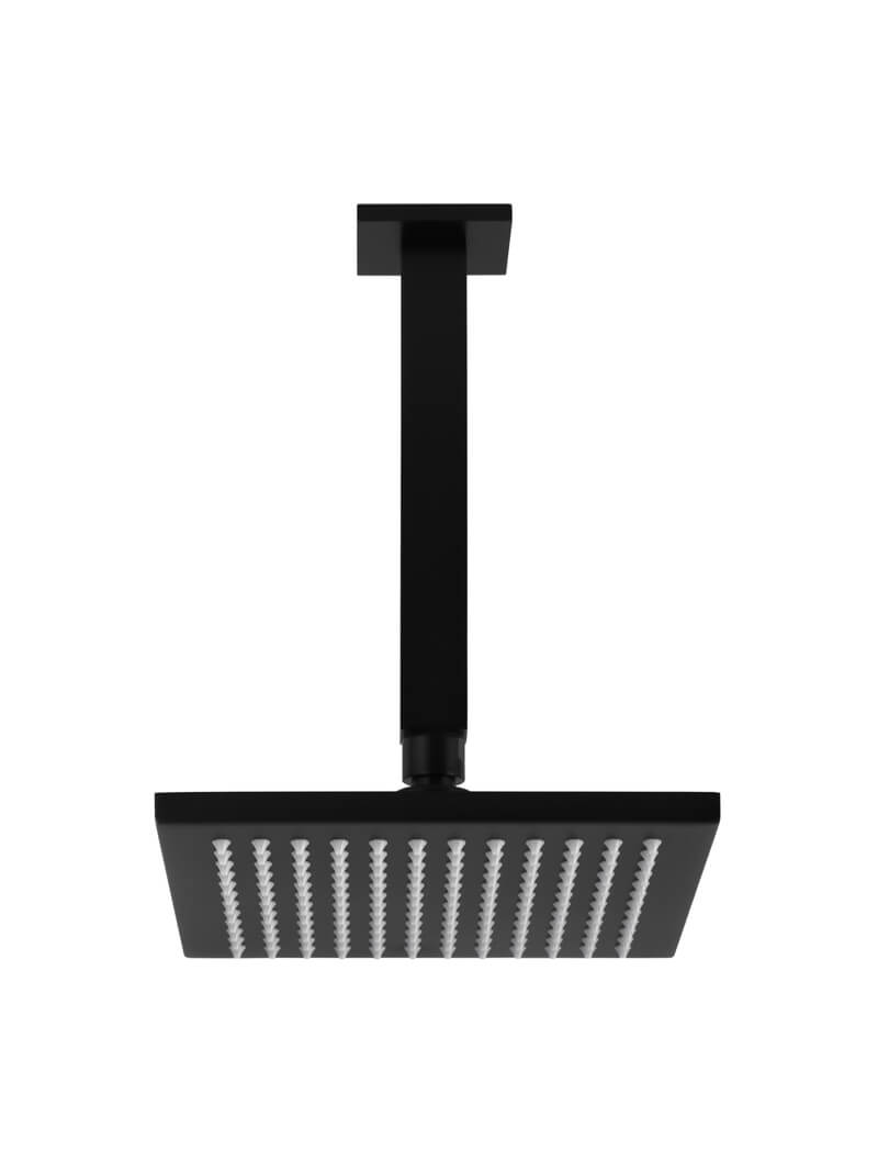 Square Ceiling Mounted Matte Black Shower 200mm by Meir, a Shower Heads & Mixers for sale on Style Sourcebook
