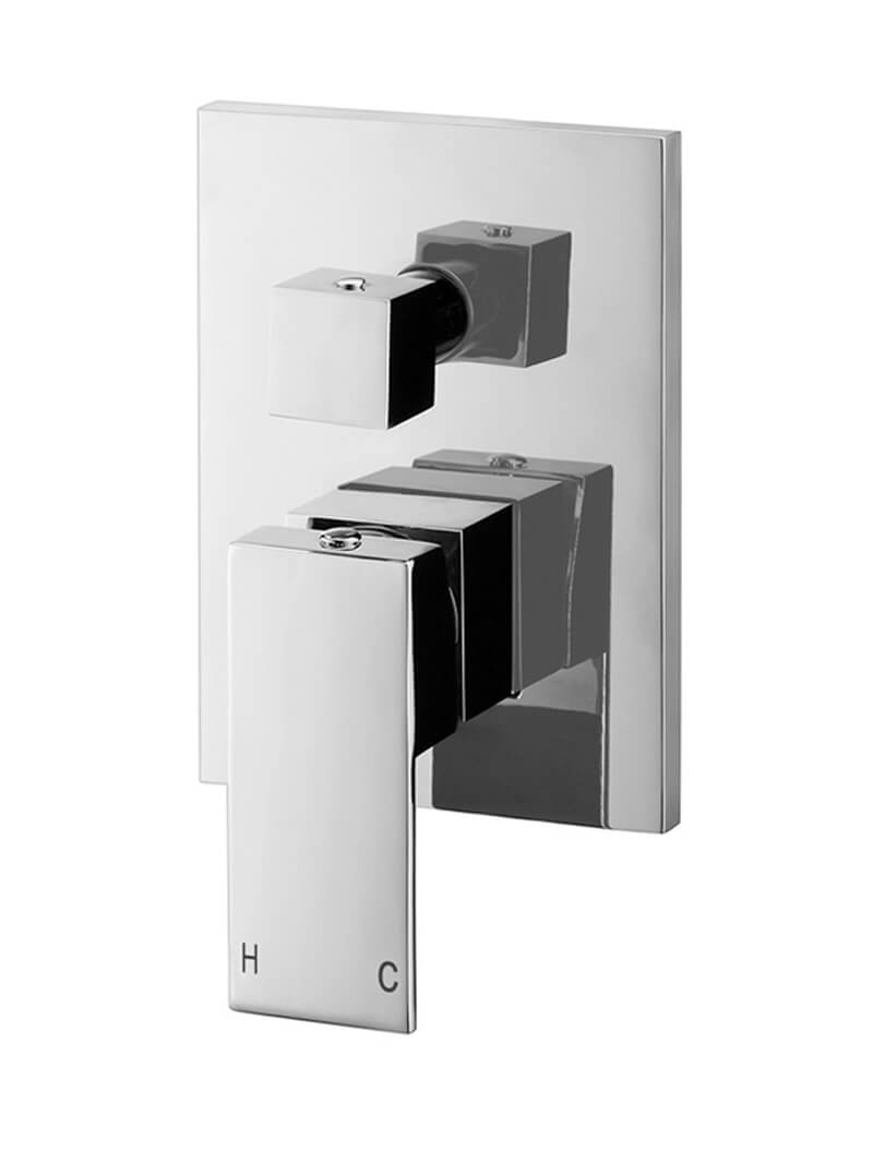 Square Chrome Diverter Mixer by Meir, a Bathroom Taps & Mixers for sale on Style Sourcebook