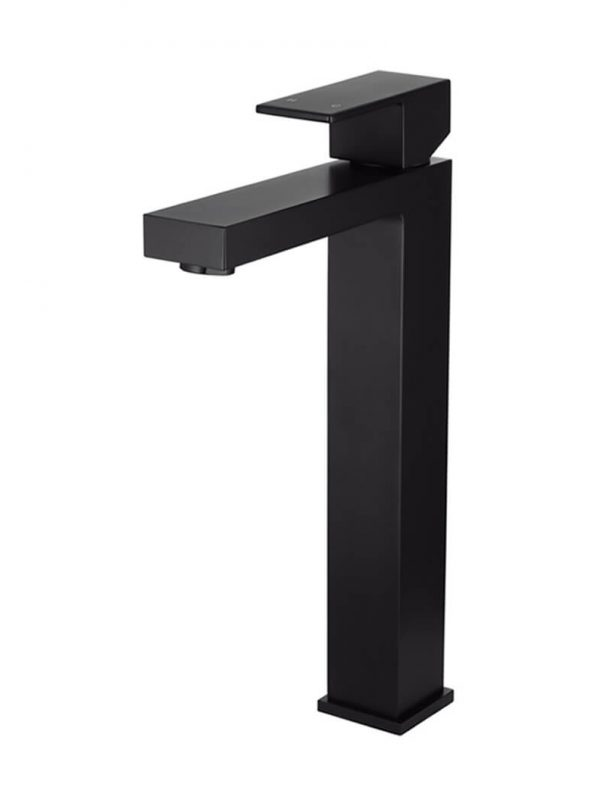 MATTE BLACK SQUARE TALL BASIN MIXER by Meir, a Bathroom Taps & Mixers for sale on Style Sourcebook