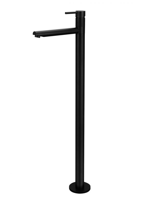Round Freestanding Black Bath Mixer by Meir, a Bathroom Taps & Mixers for sale on Style Sourcebook