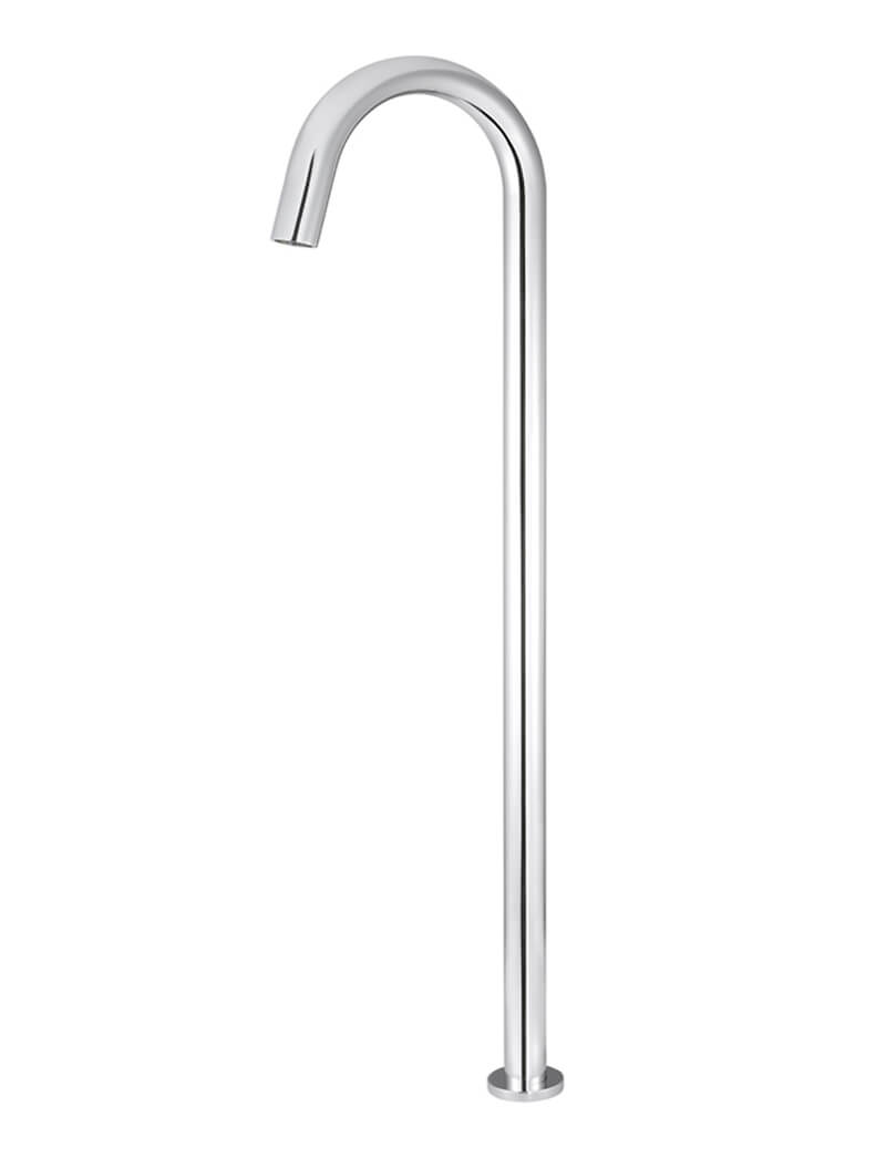 POLISHED CHROME ROUND FREESTANDING BATH SPOUT by Meir, a Bathroom Taps & Mixers for sale on Style Sourcebook