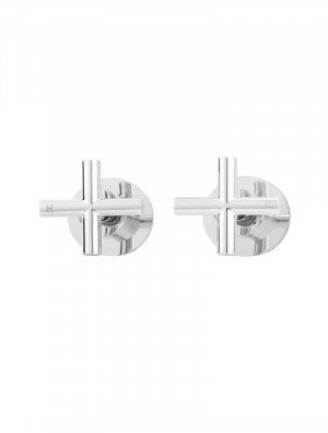 POLISHED CHROME ROUND JUMPER VALVE WALL TOP ASSEMBLIES by Meir, a Bathroom Taps & Mixers for sale on Style Sourcebook