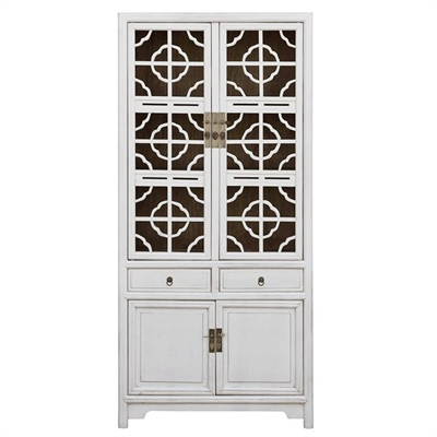 Hoh Xil Reclaimed Timber Storage Cabinet, White by COJO Home, a Freestanding Cabinets for sale on Style Sourcebook