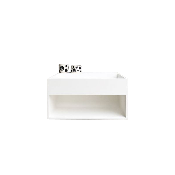 Wall Hung Solid Surface Basin Vanity with Shelf by Just in Place, a Vanities for sale on Style Sourcebook