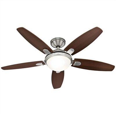Hunter Contempo Brushed Nickel Ceiling Fan with Dark Walnut / English Cherry Switch Blades by Hunter, a Ceiling Fans for sale on Style Sourcebook
