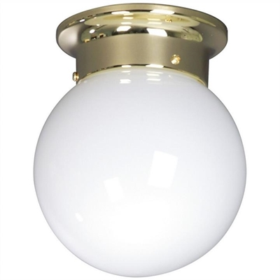 Opal DIY Ball Shade Batten Fix Ceiling Light, 20cm, Brass by Mercator, a Fixed Lights for sale on Style Sourcebook