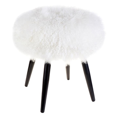 Dixie Stool, White Hair On Hide CAFE Lighting & Living by CAFE Lighting & Living, a Bar Stools for sale on Style Sourcebook