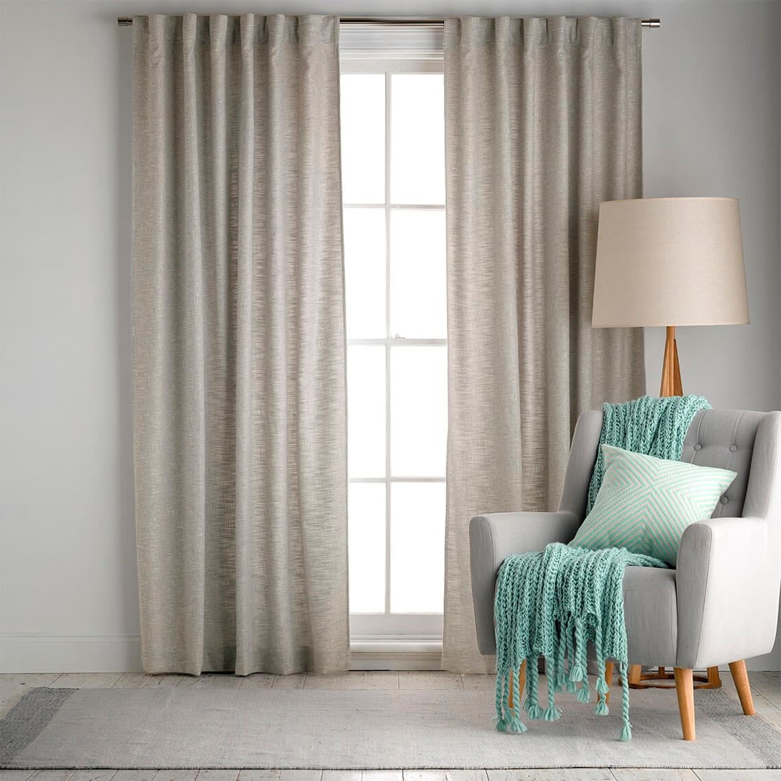 Clarence Lightfilter Concealed Tab Top Curtain Size W 180cm x D 1cm x H 250cm in Lichen 100% Polyester Fabric Freedom by Freedom, a Curtains for sale on Style Sourcebook