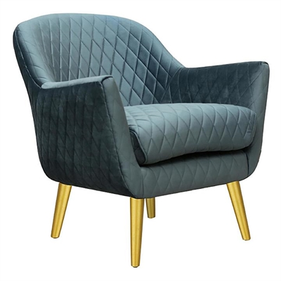 Demelza Velvet Armchair, Gold Legs by D&D Design, a Chairs for sale on Style Sourcebook