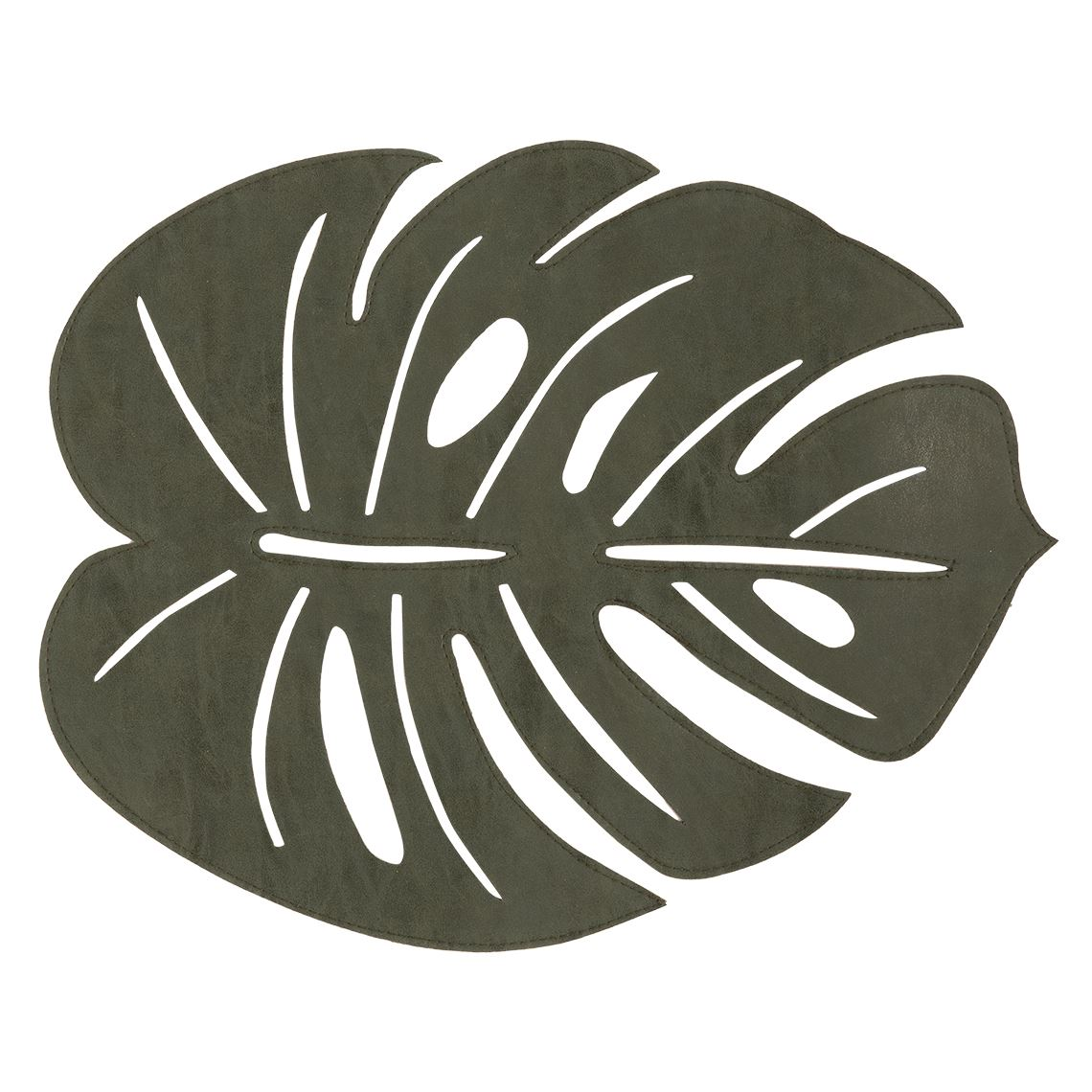 Monstera Placemat Size W 36cm x D 45cm x H 0cm in Green Freedom by Freedom, a Placemats for sale on Style Sourcebook