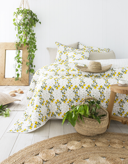 Capri Limoncello Pillowcase by Peacocks and Paisley, a Pillow Cases for sale on Style Sourcebook