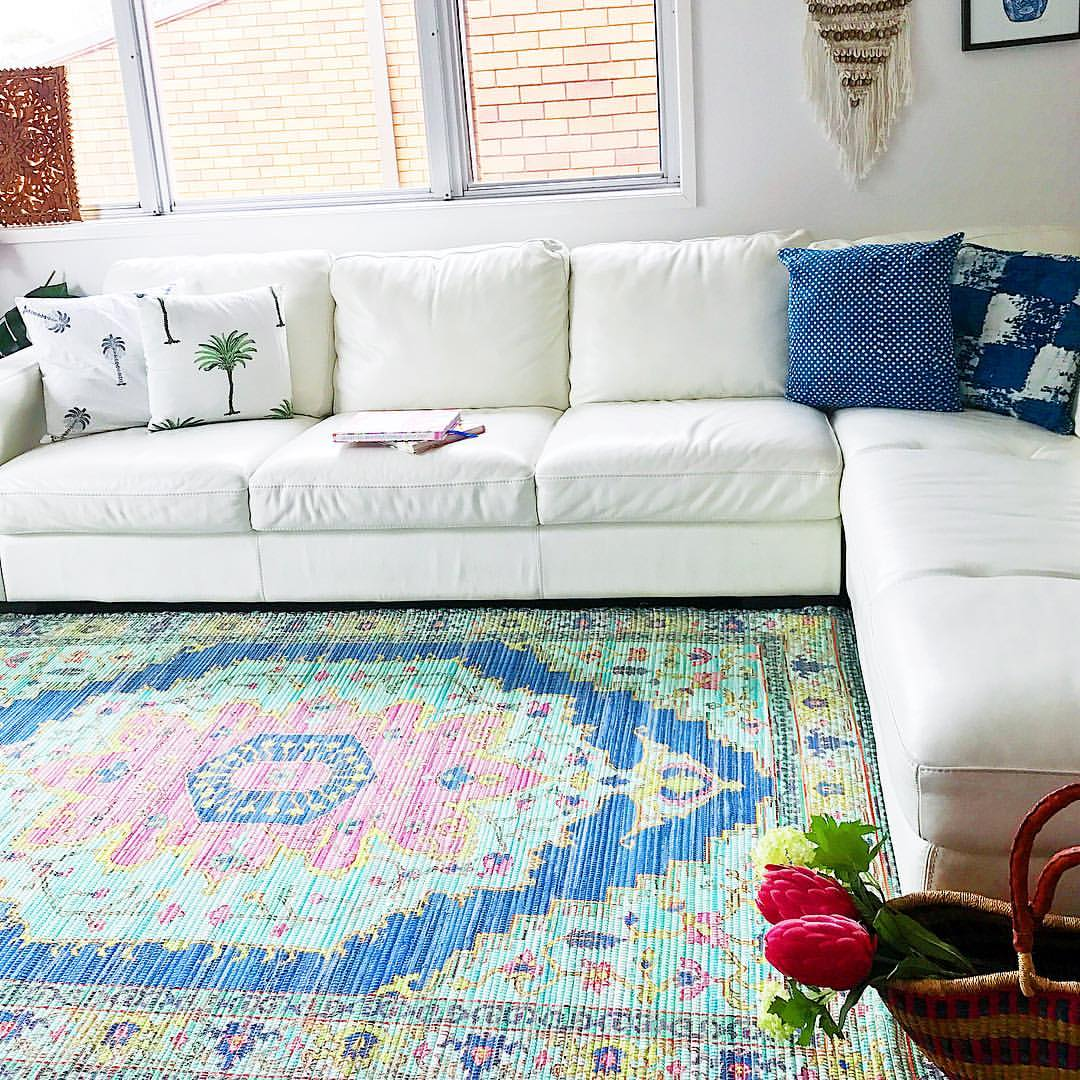Indian Summer  Upcycled Rug by Peacocks and Paisley, a Contemporary Rugs for sale on Style Sourcebook