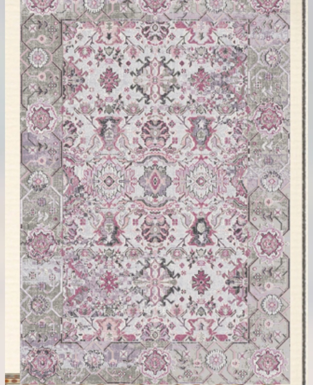 Pink Suzani Upcycled Rug by Peacocks and Paisley, a Contemporary Rugs for sale on Style Sourcebook