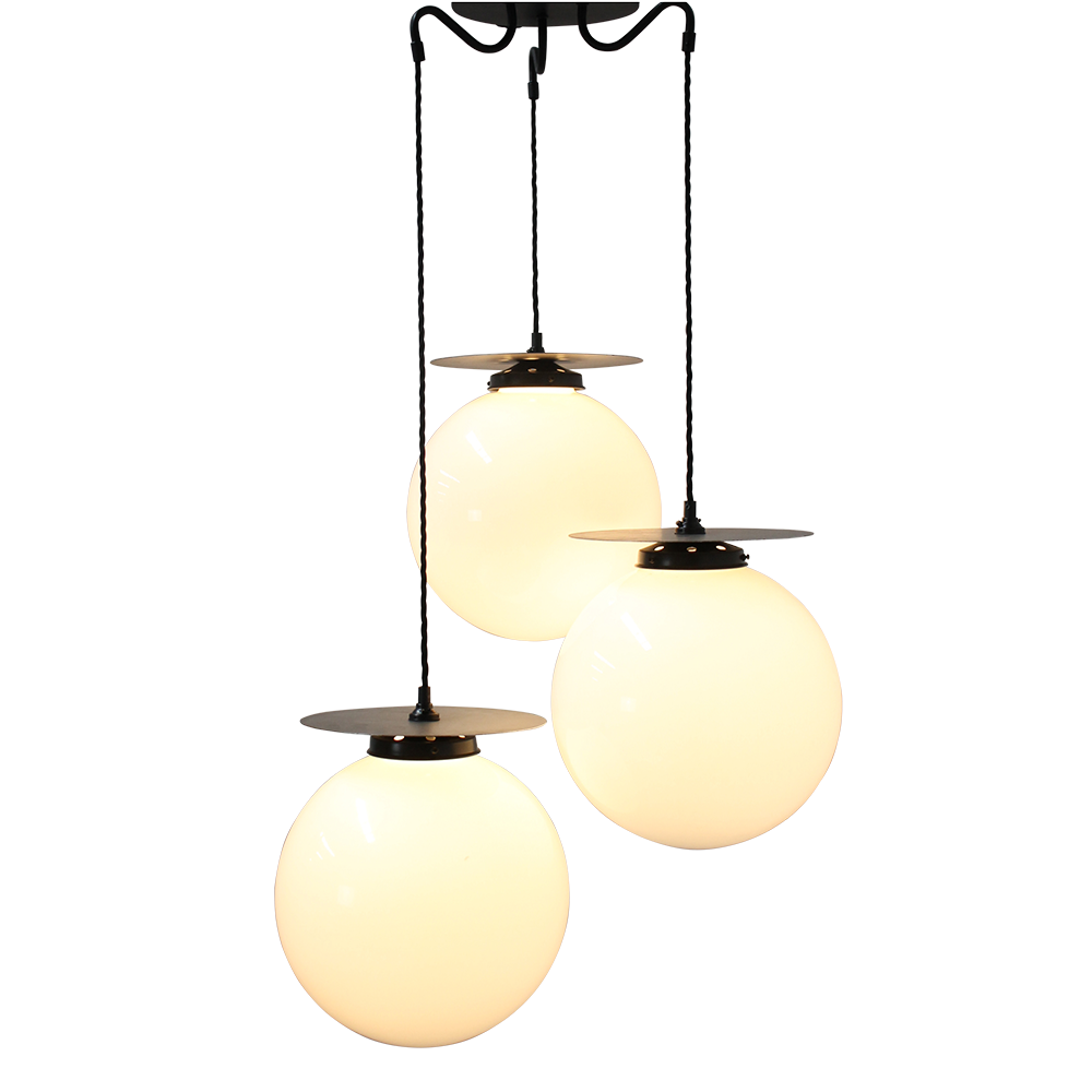 Glass Ball Disc Pendant Light by Fat Shack Vintage, a Pendant Lighting for sale on Style Sourcebook