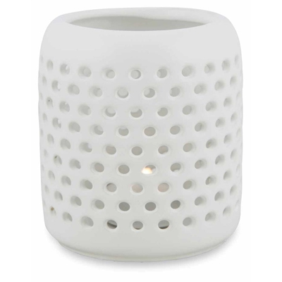 Holey Ceramic C/Holder-W by April & Oak, a Candle Holders for sale on Style Sourcebook