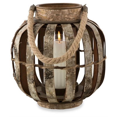 Wooden Birch Bark Candle Holder Medium by April & Oak, a Candle Holders for sale on Style Sourcebook
