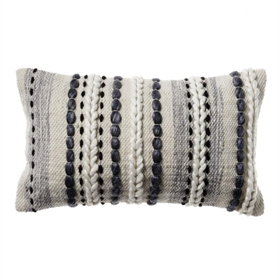 Home Republic Jells Cushion 35x55cm Charcoal - Coal By Adairs by Adairs, a Cushions, Decorative Pillows for sale on Style Sourcebook