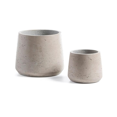 Megalo 2 Piece Poly Cement Planter Set, Type C by El Diseno, a Plant Holders for sale on Style Sourcebook