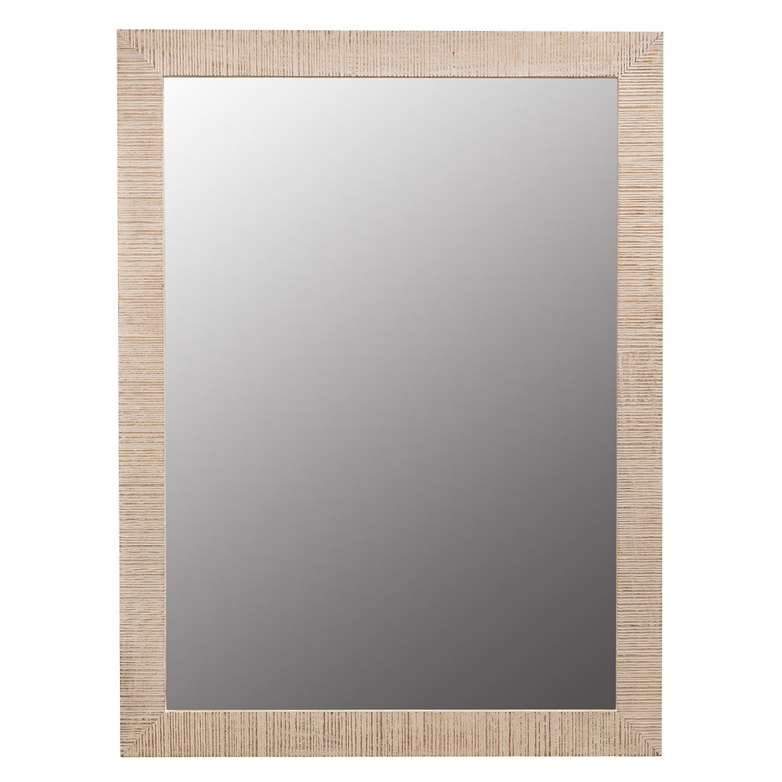 Trimble Mirror Size W 90cm x D 8cm x H 120cm in White Wash Mangowood Freedom