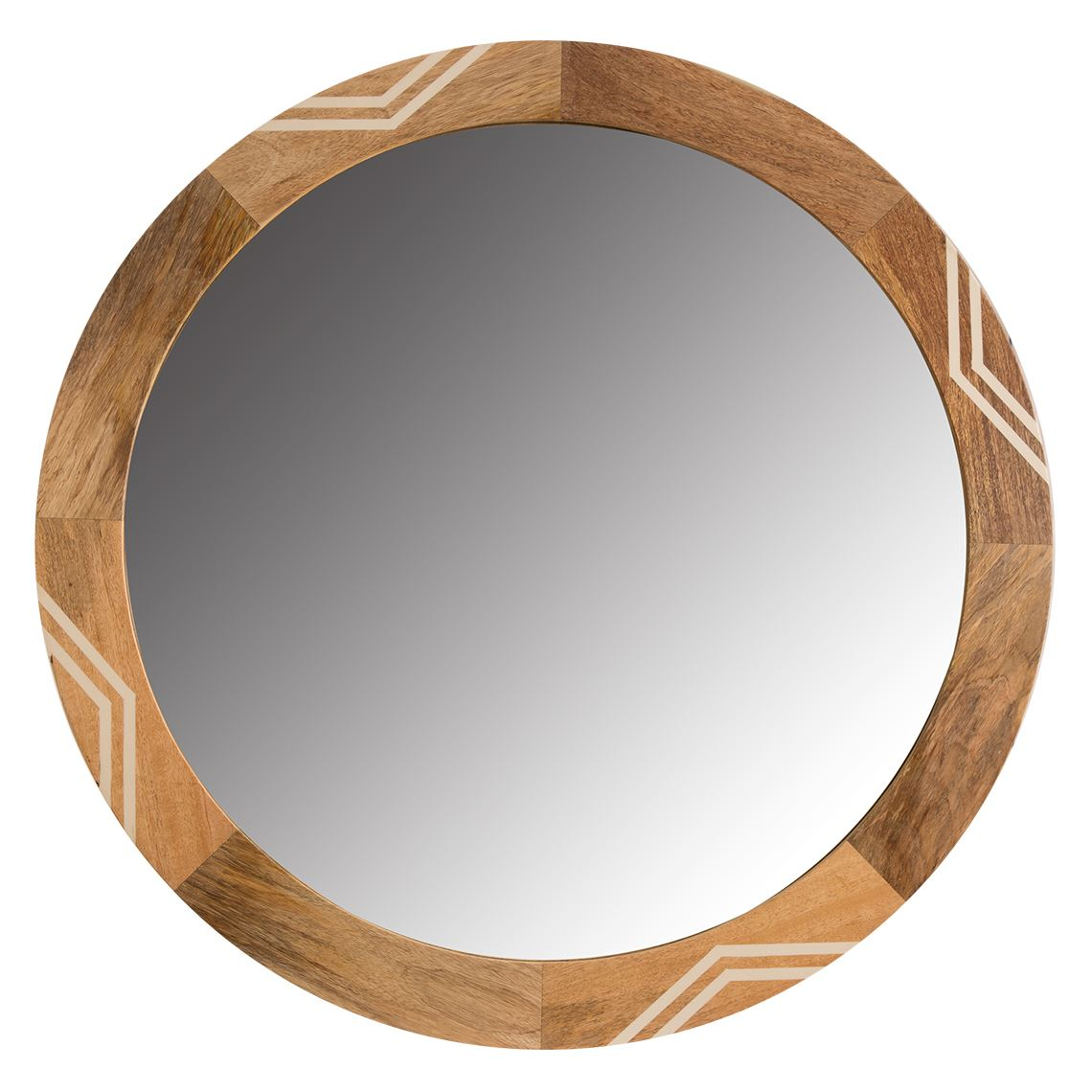 Isham Round Mirror Size W 90cm x D 4cm x H 90cm Timber/Mirrored Glass Freedom by Freedom, a Mirrors for sale on Style Sourcebook