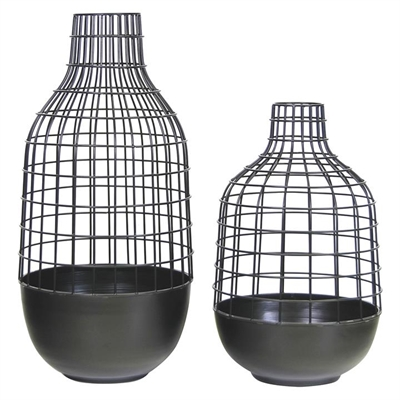 Wire Vase (Set of 2) by Satara, a Vases & Jars for sale on Style Sourcebook