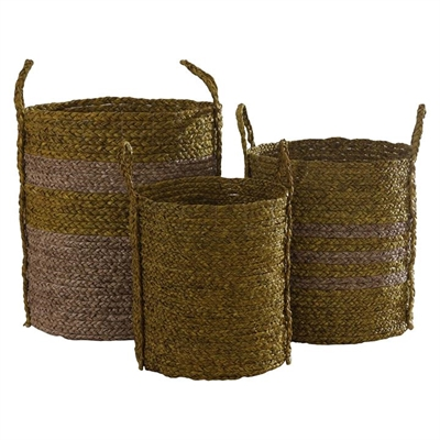 Merrick Large Basket, Yellow (Set of 3) by Satara, a Laundry Bags & Baskets for sale on Style Sourcebook