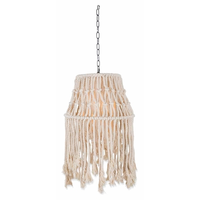 Rope Canopy Pend Lightt-S-Whte by April & Oak, a Pendant Lighting for sale on Style Sourcebook