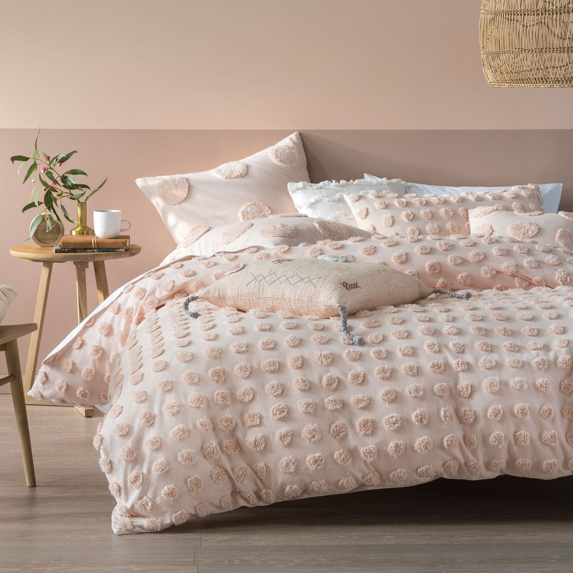 Haze Quilt Cover Set Queen Size W 210cm x D 1cm x H 210cm in Peach Freedom by Freedom, a Quilts & Bedspreads for sale on Style Sourcebook