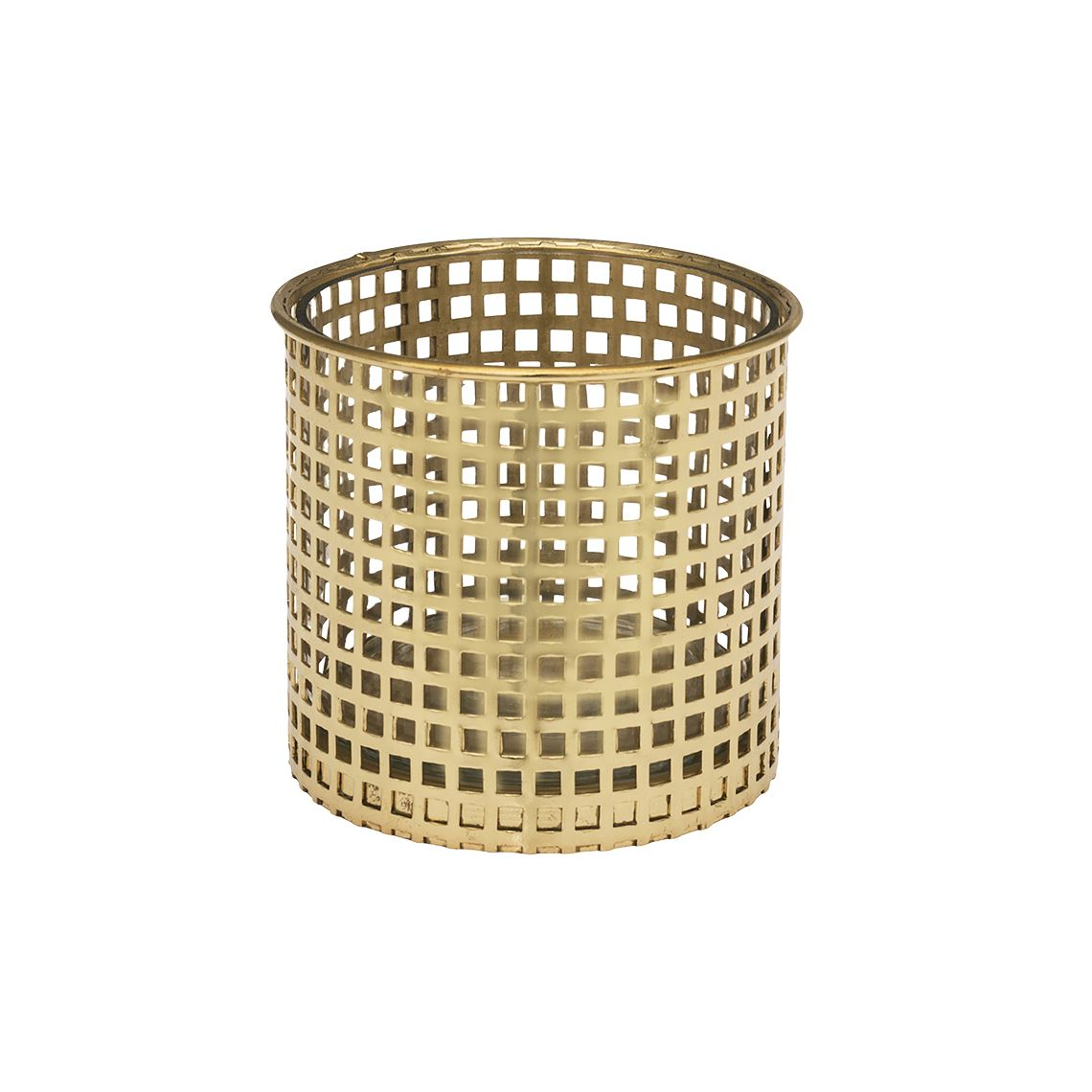 Weston Candle Holder, Colour Size W 11cm x D 11cm x H 10cm in Gold Glass/Steel Freedom by Freedom, a Plants for sale on Style Sourcebook